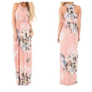 🆕 Women's Sleeveless Maxi Floral Dress